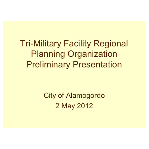JLUS Partner Briefing City of Alamogordo (PDF)