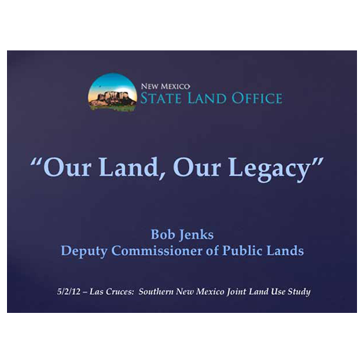JLUS Partner Briefing State Land Office (PDF)